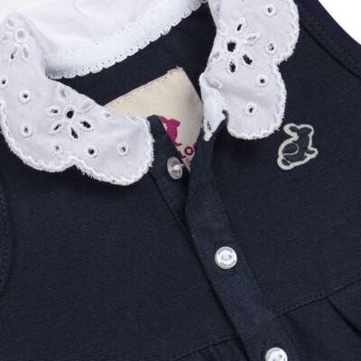 Imagem 3 do produto Vestido curto com Calcinha para bebe em piquet Marinho - Missfloor - 18VC0001.365 VESTIDO POLO REGATA C/CALCINHA-PIQUET-0-3