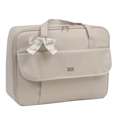 Imagem 2 do produto Mala maternidade + Bolsa + Frasqueira térmica + Porta Mamadeira Laço Marfim - Hey Baby