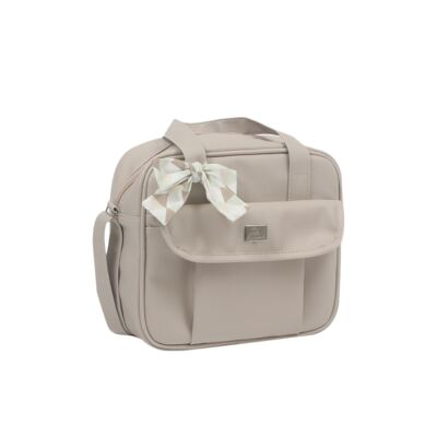 Imagem 4 do produto Mala maternidade + Bolsa + Frasqueira térmica + Porta Mamadeira Laço Marfim - Hey Baby