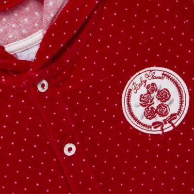 Imagem 3 do produto Casaco c/ capuz e Calça para bebe em plush Ruby - Mini & Kids - CCPZ1051.215 CONJ. BLUSÃO CAPUZ E CALÇA PLUSH VERMELHO-M