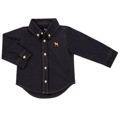 Imagem 1 do produto Camisa para bebê em chambray Preto - Charpey - CY21132.900 CAMISA CAMBREY ML PRETO-G