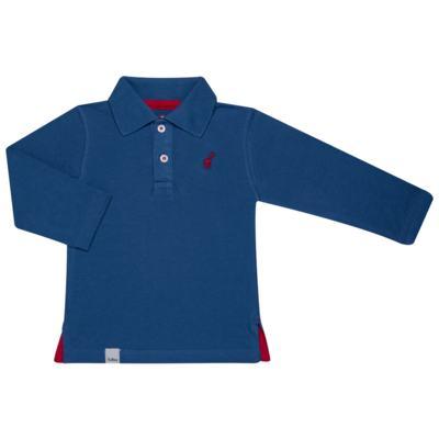 Imagem 1 do produto Polo manga longa para bebe em piquet Azul - Toffee - 65PL0001.317 CAMISETA POLO M/L PIQUET AZUL-3-6