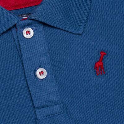 Imagem 2 do produto Polo manga longa para bebe em piquet Azul - Toffee - 65PL0001.317 CAMISETA POLO M/L PIQUET AZUL-3-6