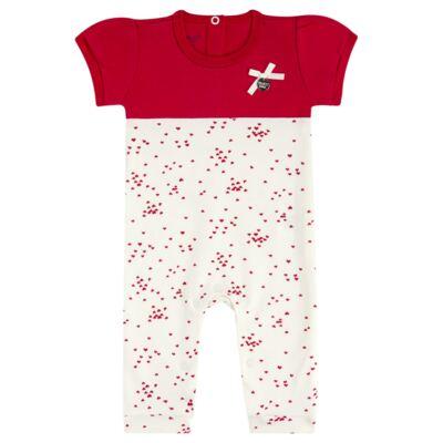 Imagem 1 do produto Macacão curto para bebe em suedine Love Puppy - Vicky Baby - 2152-4253 MACACAO MC MG CURTA REC. DOGS-P