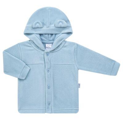 Imagem 1 do produto Casaco Orelhinha para bebe em microsoft Azul - Piu-Piu - PIU81032.021 CASACO SOFT COM ORELHINHAS AZUL-G