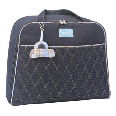 Imagem 2 do produto Mala maternidade para bebe + Bolsa + Frasqueira Little Car Jeans - Hey Baby