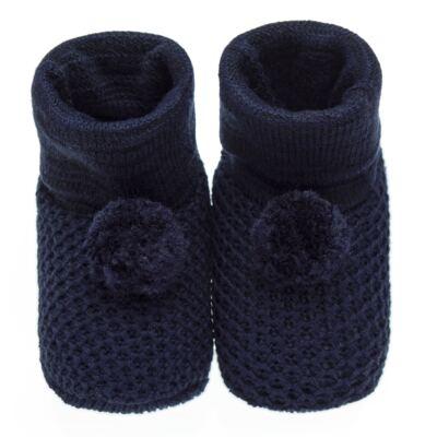Imagem 1 do produto Botinha pompom em tricot Marinho - Roana