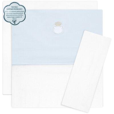 Imagem 1 do produto Jogo de lençol para berço em malha Royalty Bear Azul  - Classic for Baby