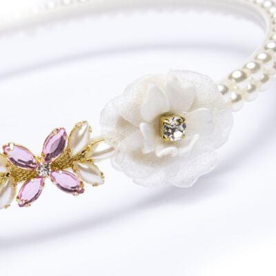 Imagem 2 do produto Coroa Flores & Pedraria Marfim - Roana