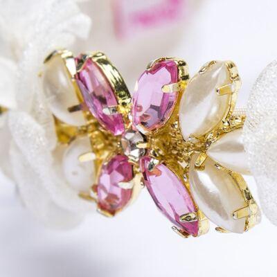Imagem 3 do produto Coroa Flores & Pedraria Marfim - Roana