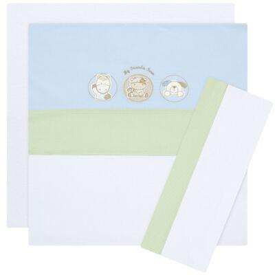Imagem 1 do produto Jogo de lençol em malha para berço Funny Farm - Classic for Baby