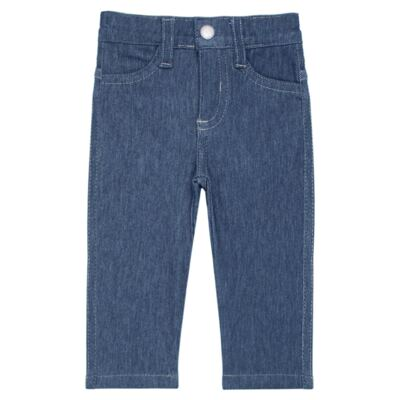 Imagem 1 do produto Calça para bebe feminina em jeans fleece - Mini & Kids - CALF1184 CALÇA AVULSA FLEECE BICICLETINHA-P