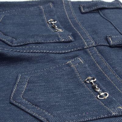 Imagem 2 do produto Calça para bebe feminina em jeans fleece - Mini & Kids - CALF1184 CALÇA AVULSA FLEECE BICICLETINHA-P