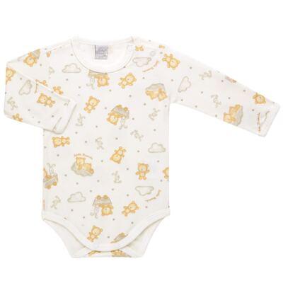 Imagem 1 do produto Body longo para bebe em suedine Naturé - Baby Classic - BS511.294 BODY M/L AVUSO - SUEDINE CAQUI-P