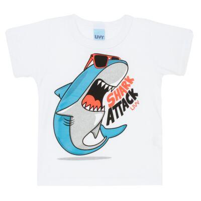 Imagem 2 do produto Camiseta branca com Bermuda tactel Tutubarão - Livy