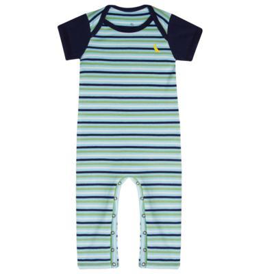 Imagem 1 do produto Macacão curto para bebe em malha Stripes - Reserva Mini - RM24441 MACACAO CURTO BB FT LISTRADO-P