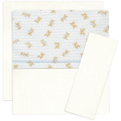 Imagem 1 do produto Jogo de lençol para berço em algodão egípcio c/ jato de cerâmica e filtro solar fps 50 Maternity Blue Bear - Classic for Baby