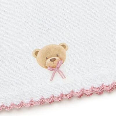 Imagem 3 do produto Kit com 3 fraldinhas de boca em fralda Maternity Pink Bear - Classic for Baby