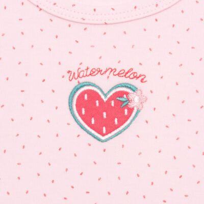 Imagem 2 do produto Body regata para bebe em suedine Sweet Watermelon - Vicky Lipe - BR768 BODY REGATA SUEDINE MELANCIA 2-G