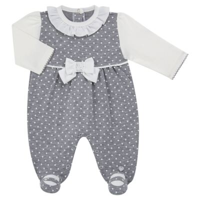 Imagem 1 do produto Macacão longo para bebe em suedine Petit Pois - Anjos Baby - AB171064.032 MACACAO LONGO FEM. T07-P