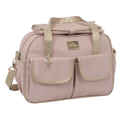 Imagem 3 do produto Mala maternidade para bebe + Bolsa + Frasqueira Térmica Nice Rosê - Just Baby