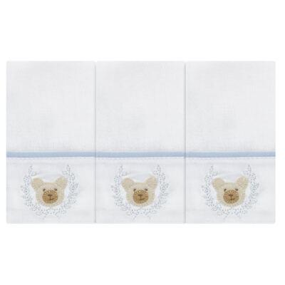 Imagem 1 do produto Kit com 3 paninhos de boca em fralda Ursinho - Roana