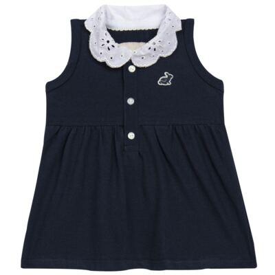 Imagem 2 do produto Vestido curto com Calcinha para bebe em piquet Marinho - Missfloor - 18VC0001.365 VESTIDO POLO REGATA C/CALCINHA-PIQUET-3-6