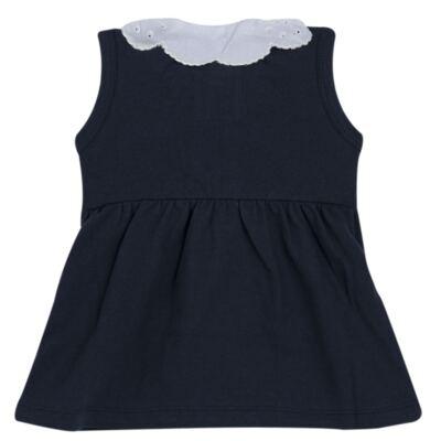 Imagem 4 do produto Vestido curto com Calcinha para bebe em piquet Marinho - Missfloor - 18VC0001.365 VESTIDO POLO REGATA C/CALCINHA-PIQUET-3-6