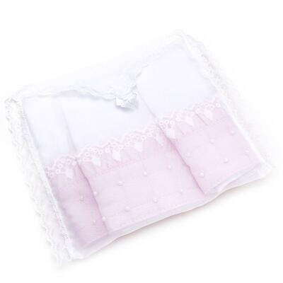 Imagem 4 do produto Kit com 3 paninhos de boca para bebe em fralda Matelassê Rosa - Roana