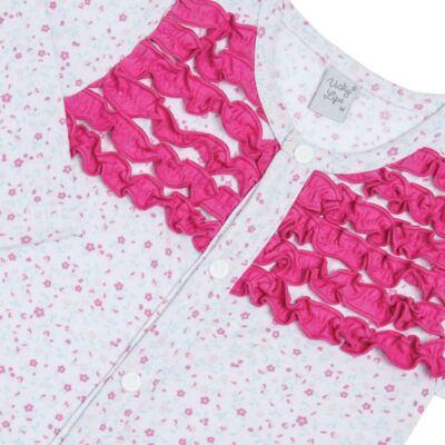 Imagem 2 do produto Macacão longo frufru para bebe em malha Little Cute - Vicky Lipe - 20761362 MACACÃO ML MALHA ELEFANTINHO-P