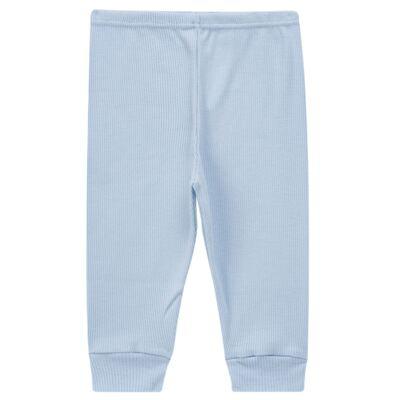 Imagem 3 do produto Pijama longo para bebe canelado Azul - Dedeka - DDK0840/25 Conjunto Canelado Azul-G