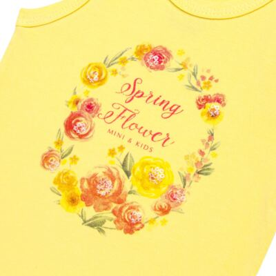 Imagem 2 do produto Body regata para bebe em spandex Spring Flower - Mini & Kids - BRNE1650 BODY NADADOR EXPAND FLORAL 3-G