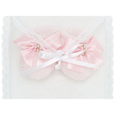 Imagem 3 do produto Sapatinho para bebe em tricot laço cetim Rosa - Roana