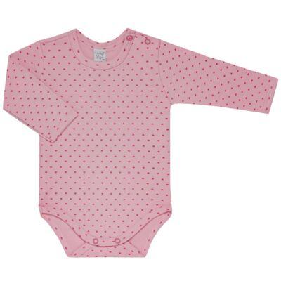 Imagem 2 do produto Kit 2 Bodies longos para bebe Pink Little Hearts - Vicky Lipe - LTPBML02 PACK 2 BODIES ML CORAÇÃO ROSA BB/PINK-M