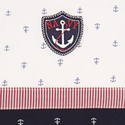 Imagem 2 do produto Jogo de lençol em malha para carrinho Navy - Classic for Baby