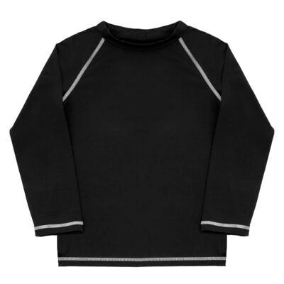 Imagem 1 do produto Camiseta longa Surfista para bebê em lycra FPS 50 Preta - Dedeka - DDK18512/L09 CAMISETA ML FLUITY PRETO-3