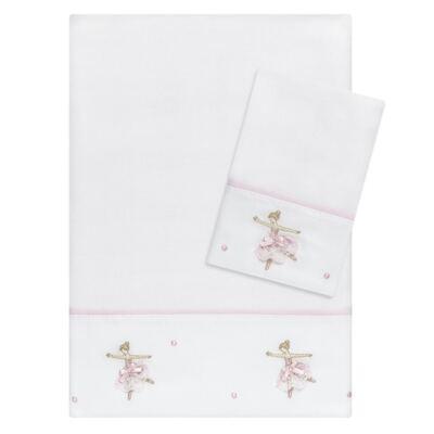 Imagem 1 do produto Kit Amamentação: 1 paninho de ombro + 1 paninho de boca em fralda Ballet - Roana