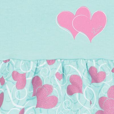 Imagem 2 do produto Vestido para bebê Cute Hearts Menta - Livy - LV4901.VD VESTIDO HEART COTTON AQUATIC-G