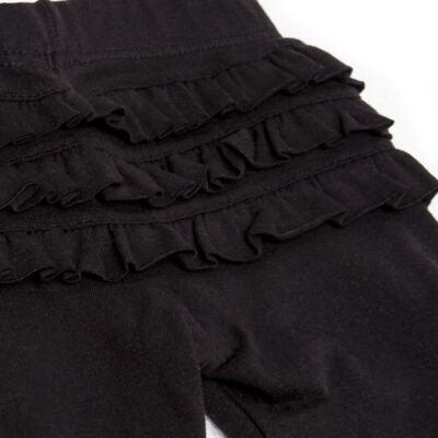 Imagem 3 do produto Legging para bebe com Babadinhos em cotton Preta - Mini & Kids - LGCB0001.233 LEGGING C/BABADINHO - COTTON-P