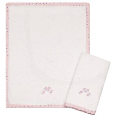 Imagem 1 do produto Kit com 2 fraldas de boca atoalhadas Rosinhas - Classic for Baby