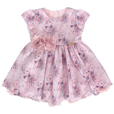 Imagem 1 do produto Vestido para bebe em cetim Sophie - Miss Sweet - SW1031 Vestido Floral Balaozinho-G