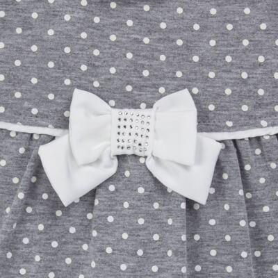 Imagem 2 do produto Macacão longo para bebe em suedine Petit Pois - Anjos Baby - AB171064.032 MACACAO LONGO FEM. T07-M