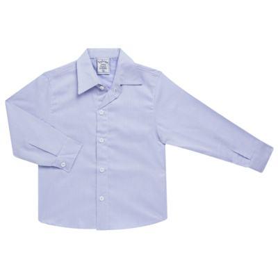Imagem 1 do produto Camisa para bebe em tricoline Listras Azul - Sylvaz - SZ767 CAMISA LISTRAS ML AZUL-2