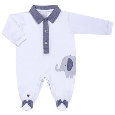 Imagem 1 do produto Macacão longo para bebe em suedine Elephant - Anjos Baby - AB163133-001 MACACAO LONGO MASC T15-RN