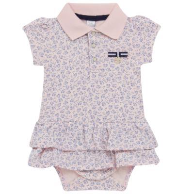 Imagem 1 do produto Body Vestido para bebe em malha Blue Flowers - Mini & Classic - 0410658 BODY VESTIDO POLO MALHA FLORAL NAVY -GG