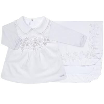 Imagem 1 do produto Saída Maternidade para bebe Lauren: Vestido + Body longo + Manta - Roana