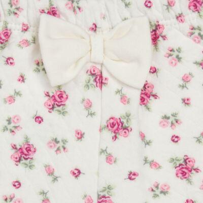 Imagem 5 do produto Body Polo com Shorts para bebe em suedine Florale - Grow Up - 04080008.0004 CONJUNTO FLOWERY CREME-G