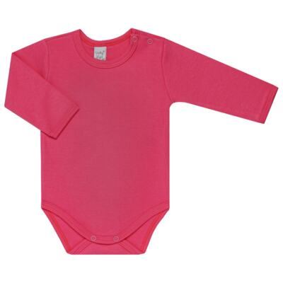 Imagem 3 do produto Kit 2 Bodies longos para bebe Pink Little Hearts - Vicky Lipe - LTPBML02 PACK 2 BODIES ML CORAÇÃO ROSA BB/PINK-RN
