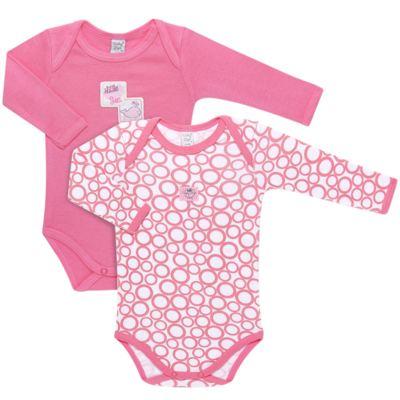 Imagem 1 do produto Pack 2 Bodies longos para bebe em high comfort Cute Whale - Vicky Lipe - 20471334 PACK BODY ML MALHA BALEIA-M