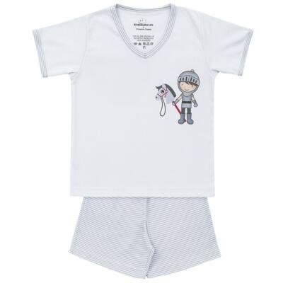 Imagem 1 do produto Pijama curto em suedine Chevalier - Dedeka - DDK16201 Pijama Suedine Curto Chevalier-1